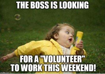 Weekend-Volunteer