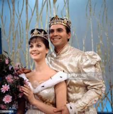 LOS ANGELES - FEBRUARY 22: Cinderella, a made for TV movie, CBS television special, originally broadcast February 22, 1965. Pictured left to right: Lesley Ann Warren (as Cinderella), Stuart Damon (as Prince). (Photo by CBS via Getty Images)
